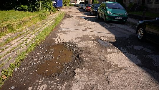 Straßenschäden in Weisweiler