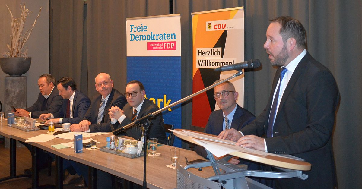 Mitgliederversammlung von CDU und FDP