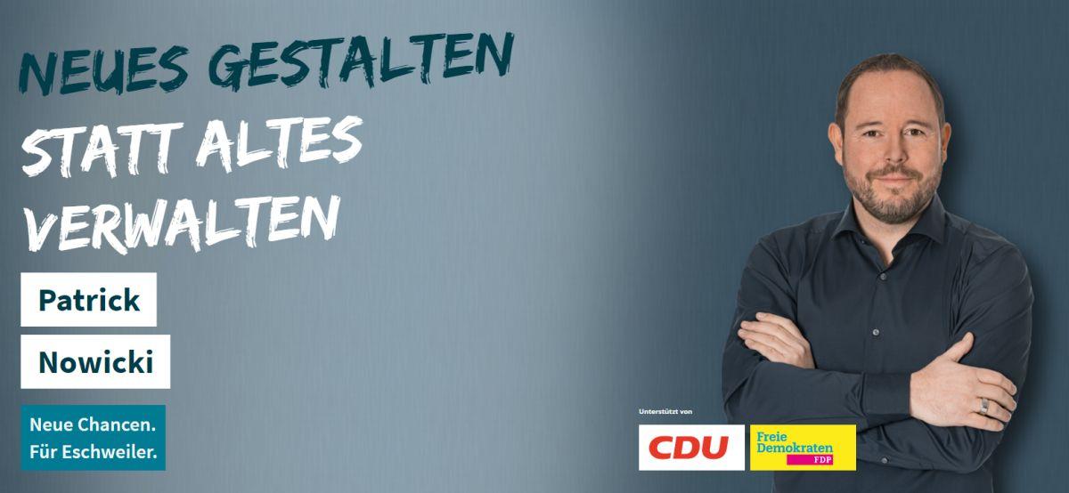 Neue Chancen für Eschweiler: Bürgermeisterkandidat Patrick Nowicki