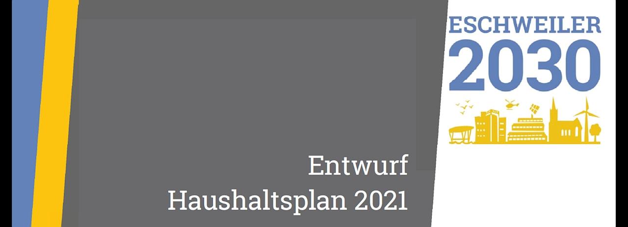 Haushaltsentwurf 2021