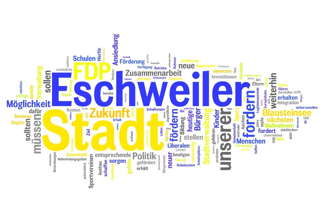Kommunalwahlprogramm 2014 der FDP Eschweiler