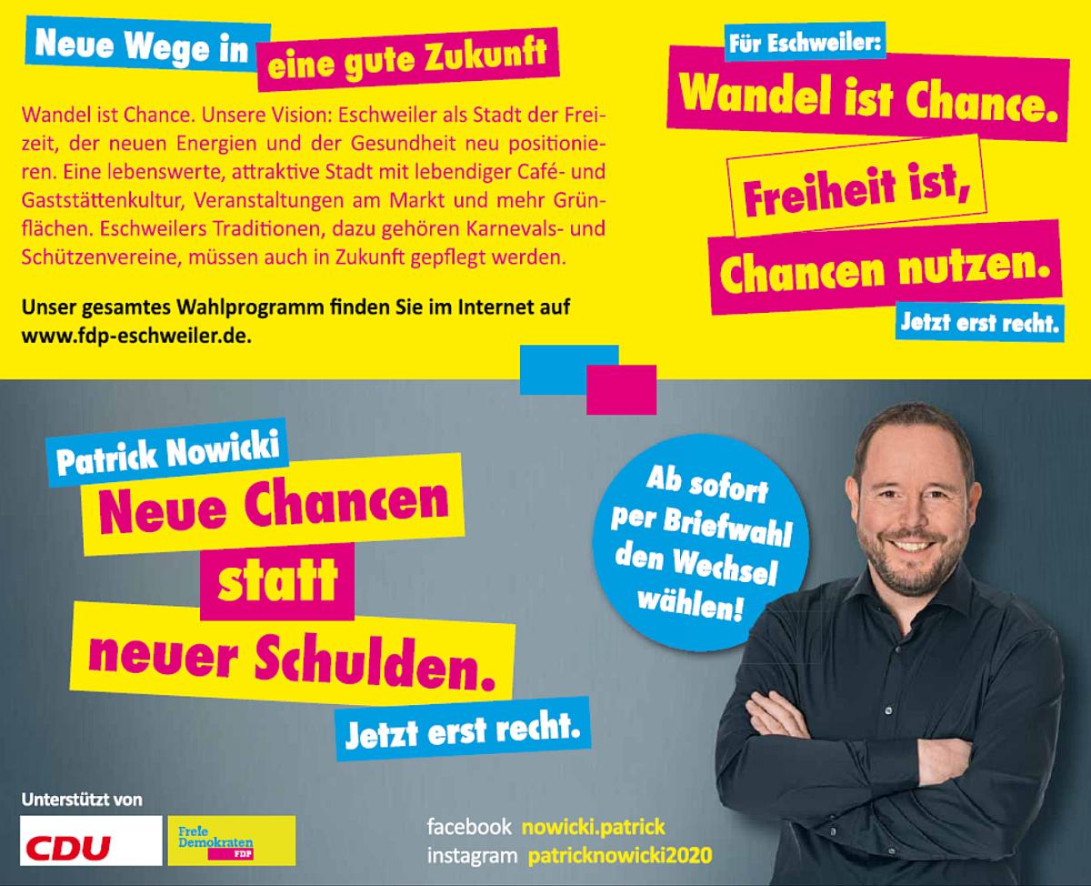FDP Eschweiler: Neue Wege in eine gute Zukunft