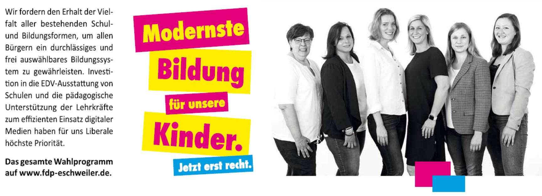 FDP Eschweiler: Modernste Bildung für unsere Kinder