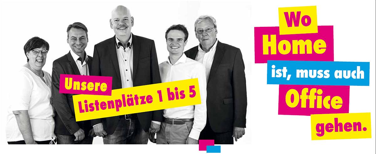 FDP Eschweiler: Unsere Listenplätze 1 bis 5