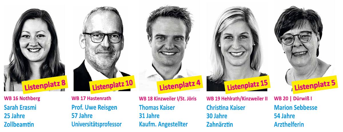 FDP Eschweiler: Unsere Kandidat*innen - Teil 4
