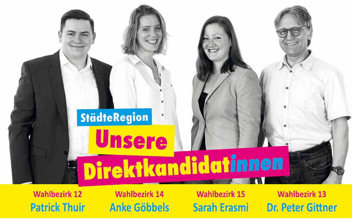 FDP Eschweiler: Unsere Kandidat*innen für die Städteregion Aachen