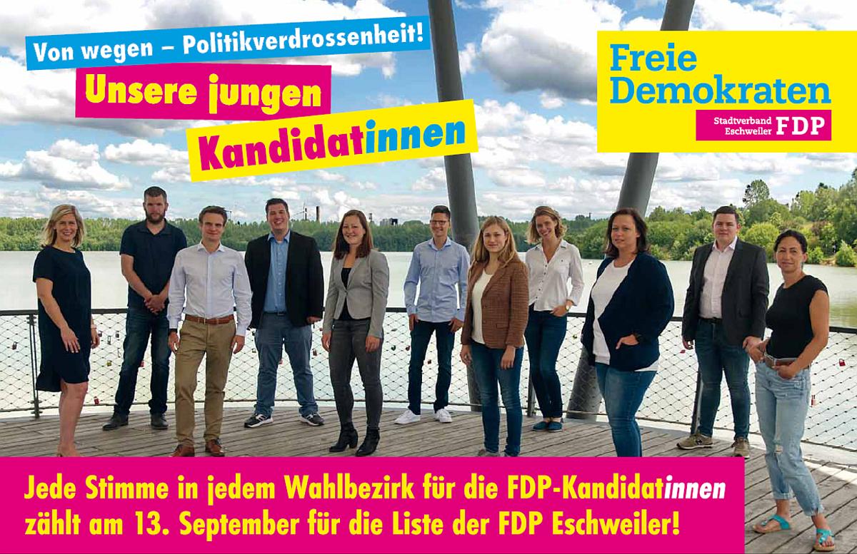 FDP Eschweiler: Unsere jungen Kandidat*innen