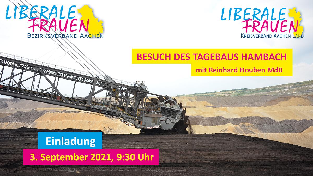 Einladung zum Besuch des Tagebau Hambach
